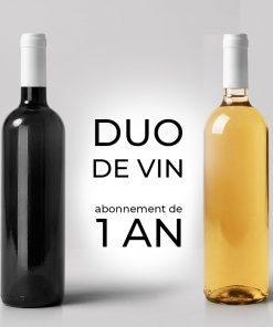 Duo de vin mensuel durant 1 an